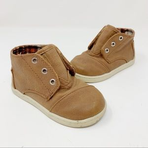 TOMS Paseo Mid Bootie Faux Leather Brown Size 7